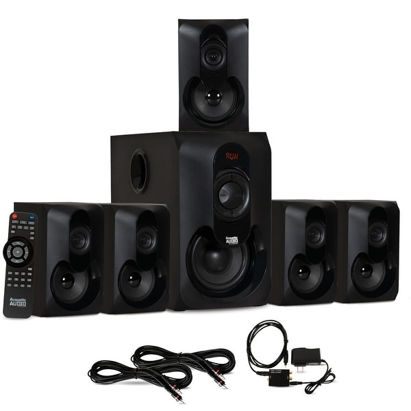 Acoustic Audio AA5301 Bluetooth 5.1 Speaker System Optical Input & 2 Ext Cables