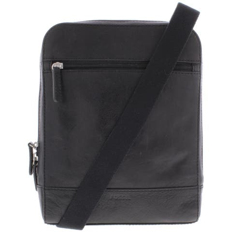 Fossil Womens Rory North South Handbag Leather Crossbody - Black - Medium