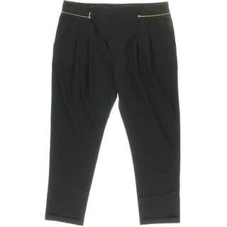 Zara Basic Womens Ponte Cuffed Dress Pants - L