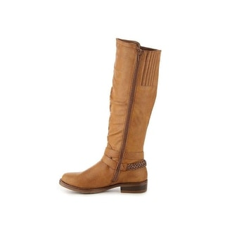 XOXO Womens Martin-Wide Calf Closed Toe Knee High Riding Boots
