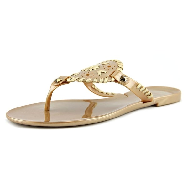 Jack Rogers Georgica Jelly Open Toe Synthetic Thong Sandal