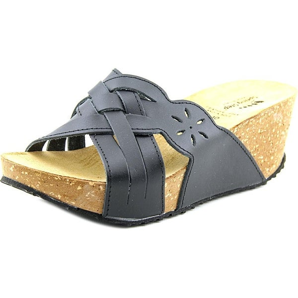 Spring Step Skyview   Open Toe Leather  Wedge Sandal