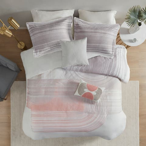 Urban Habitat Adrian 5 Piece Cotton Printed Duvet Cover Set