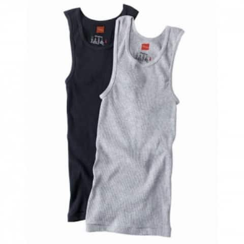 Hanes 392DP2-M ComfortSoft Cotton Men's Tank Tee-Shirt, Medium, 2-Pack