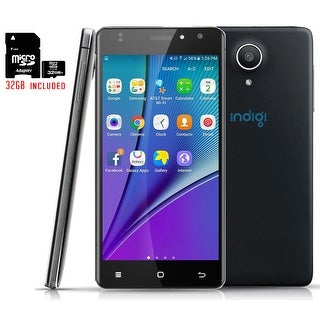 Indigi Android 6.0 DualSim SmartPhone 4G LTE Unlocked T-Mobile + 32gb Included - Black