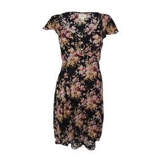 Ralph Lauren Women's Hi-Low Floral Print Dress