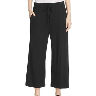 Eileen Fisher NEW Black Women's Size Large L Wide Leg Crop Pants