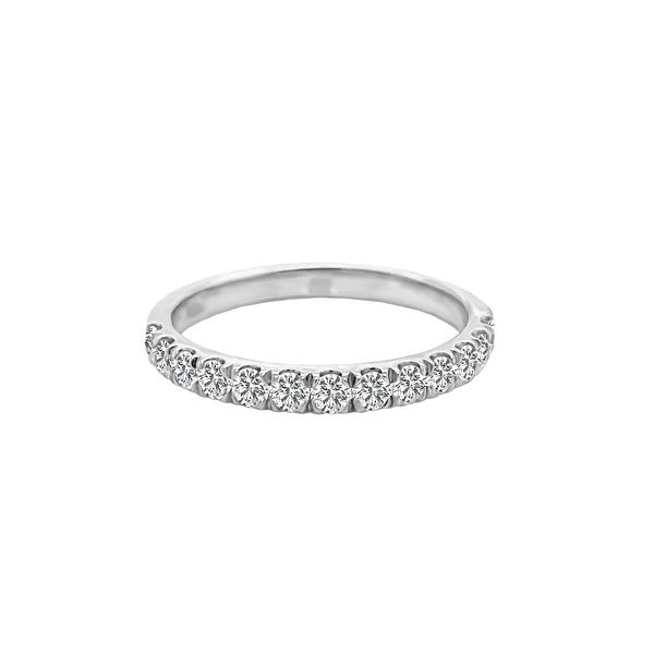 14K Gold Diamond Wedding Band (0.50 Ct, G-H Color, SI2-I1 Clarity) by Noray Designs. Opens flyout.