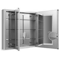 "Kohler K-99011-SCF Verdera 30"" x 40"" Triple Door Mirrored Medicine Cabinet with Plain Mirror and Three Adjustable Shelves and"