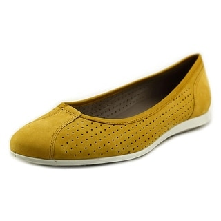 Ecco Touch Ballerina Round Toe Leather Ballet Flats