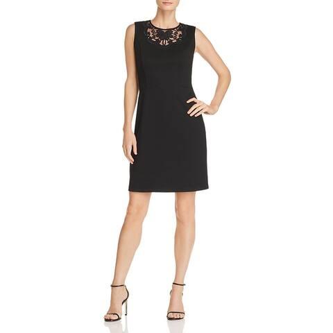 Le Gali Lyndsie Women's Lace Inset Sleeveless A-Line Mini Dress