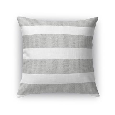 Kavka Designs silver/ white centerville accent pillow with insert