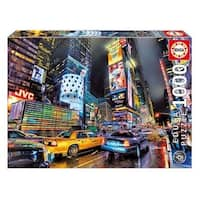 Times Square New York 1000 Piece Puzzle, Globetrotter by John N. Hansen Co.