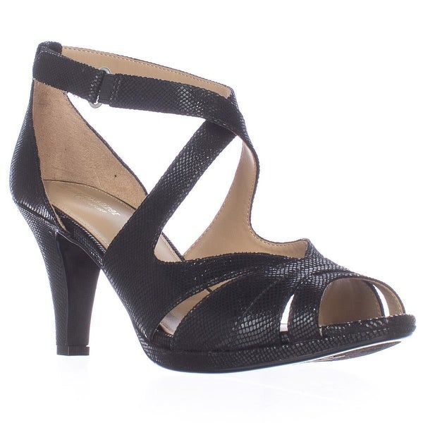 naturalizer Imperial Strappy Dress Sandals, Black Snake