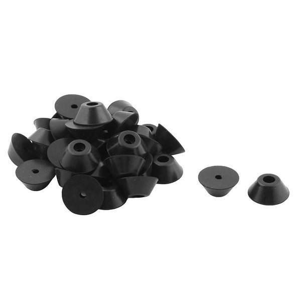 Canteen Rubber Furniture Closet Foot Leg Cover Tube Insert End Cap Black 35 Pcs
