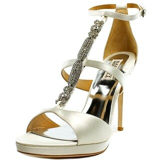 Badgley Mischka Pilar   Open Toe Canvas  Platform Heel
