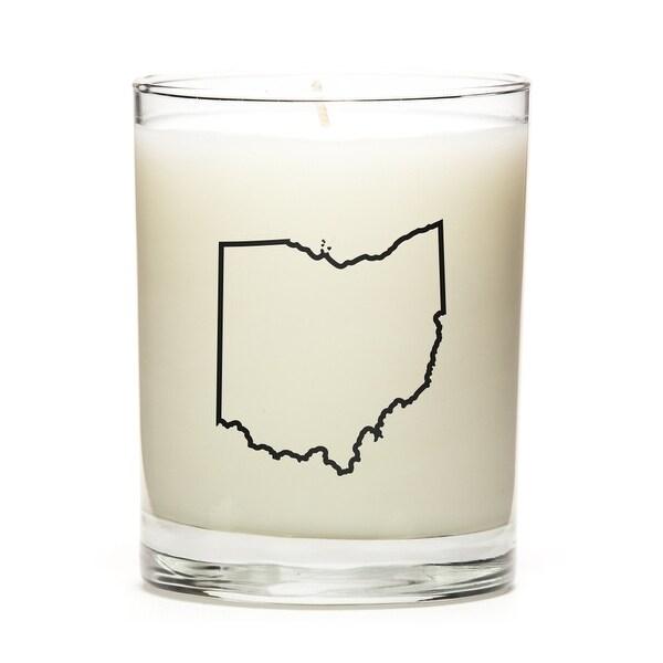Custom Gift - Map Outline of Ohio U.S State, Pine Balsam