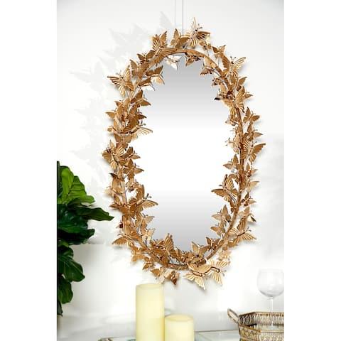 Gold Metal Glam Wall Mirror 33 x 19 x 5 - 19 x 5 x 33