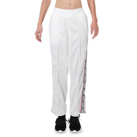 Champion Womens Track Pants Fitness Running - White - L