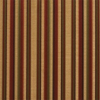 54 in. Wide Burgundy, Gold And Green Shiny Thin Striped Silk