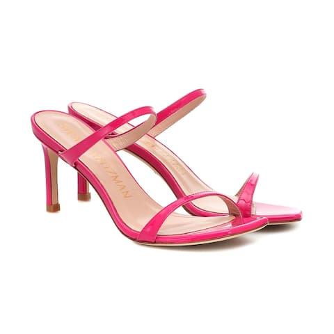 Stuart Weitzman Women's Leather Aleena 75 Heeled Sandals Pink