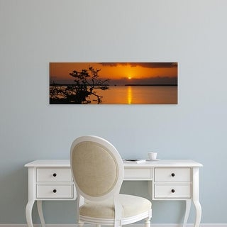 Easy Art Prints Panoramic Image 'Sunrise over bay, Florida Bay, Everglades National Park, Florida, USA' Canvas Art