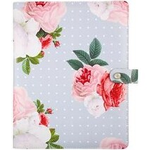 "Gray Floral - Color Crush A5 Faux Leather Composition Planner 7.5""X10"""