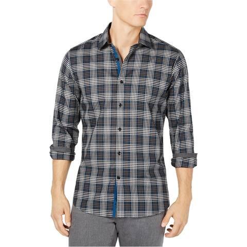 Ryan Seacrest Mens Check Button Up Shirt