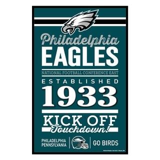 Philadelphia Eagles Sign 11x17 Wood Established Design