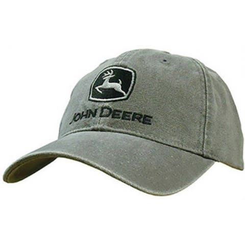 John Deere 13080251CH00 Duck Canvas 6 Panel Cap, One Size, Charcoal