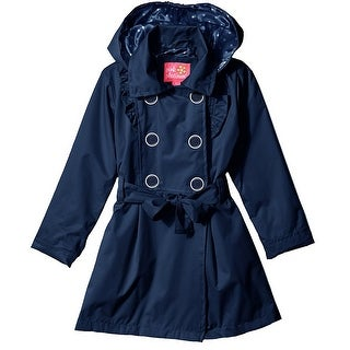 Pink Platinum Girls Classic Trench Jacket with Polka Dots Lining Spring Coat