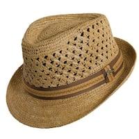 Tommy Bahama Crocheted Raffia Fedora Hat