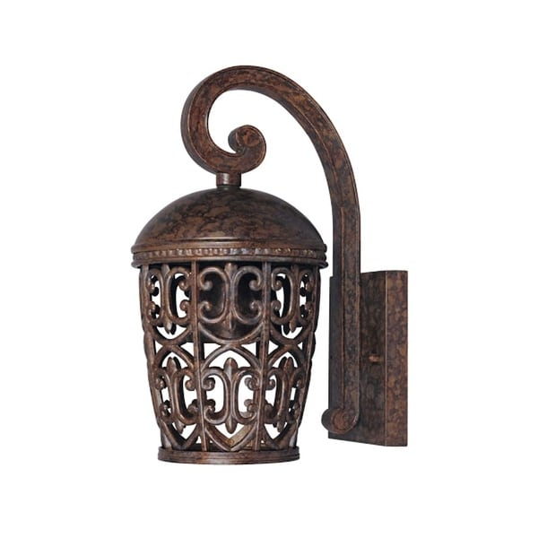 Designers Fountain 97591 1-Light Down Lighting Outdoor Wall Lantern from the Dark Sky Amherst Collection - Burnt Umber - N/A