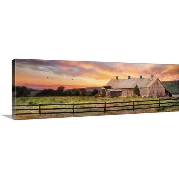"""Sunset in the Valley"" Canvas Wall Art"