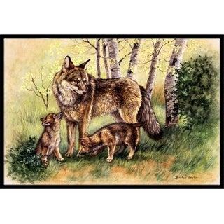 Carolines Treasures BDBA0115JMAT Wolf Wolves by Daphne Baxter Indoor or Outdoor Mat 24 x 36