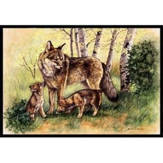 Carolines Treasures BDBA0115MAT Wolf Wolves by Daphne Baxter Indoor or Outdoor Mat 18 x 27