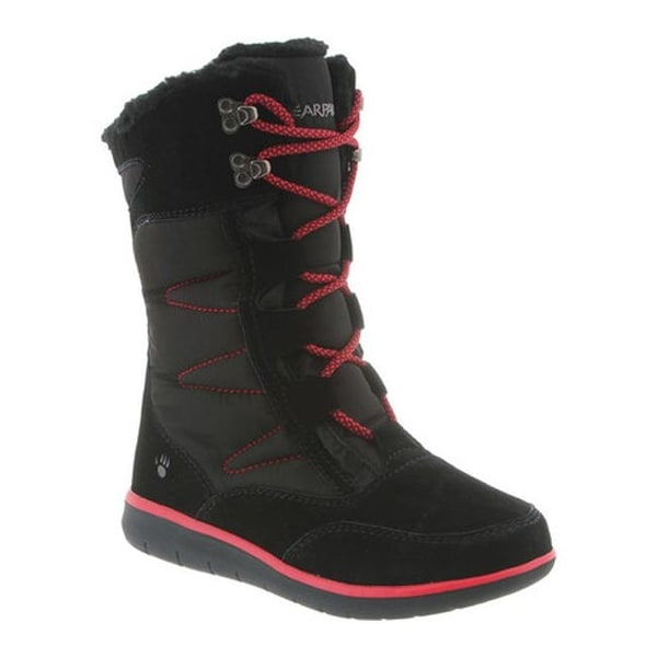 a828dbf46a3c Shop Bearpaw Women s Aretha Mid-Calf Lace-Up Boot Black II Suede ...