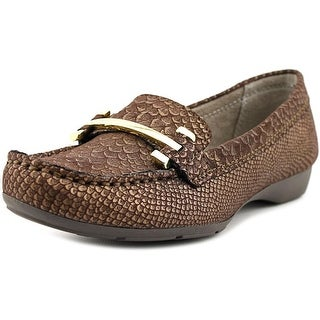 Naturalizer Gloria Youth Square Toe Canvas Brown Flats