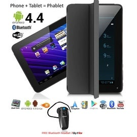 Indigi® 7.0inch Unlocked 2-in-1 Android 4.4 Smartphone + TabletPC w/ Built-in Smart Cover (Black)+ Bluetooth Included