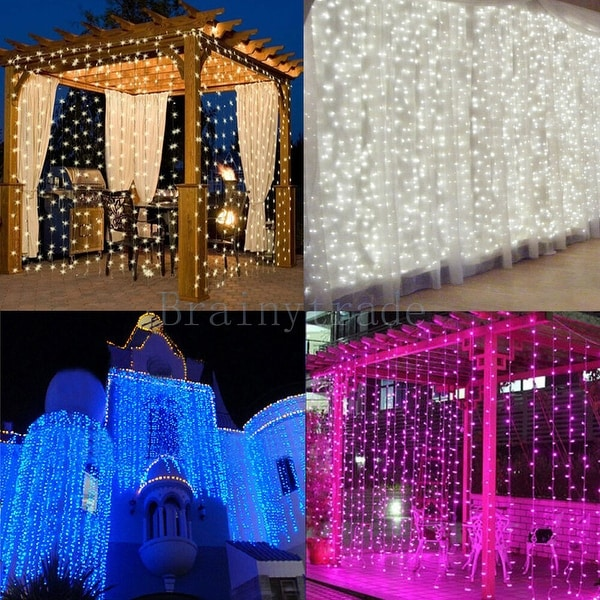 LED Fairy Curtain String light for Xmas Christmas Wedding Party Connectable Multi-color - s. Opens flyout.