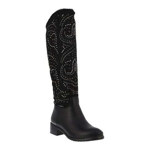 Azura Women's Anae Knee High Boot Black Microsuede/Synthetic Leather
