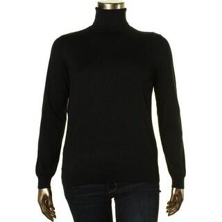 Lauren Ralph Lauren Womens Silk Blend Knit Turtleneck Sweater - XL