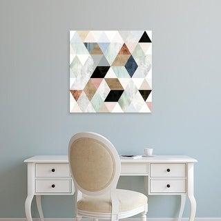 Easy Art Prints Victoria Borges's 'Watercolor Mosaic I' Premium Canvas Art