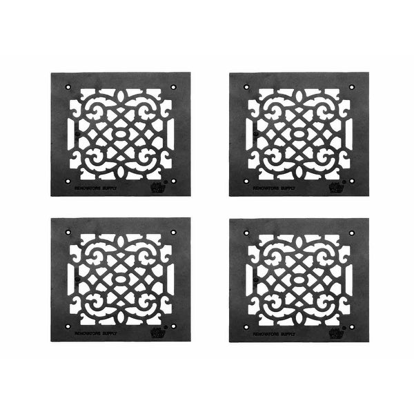 4 Heat Air Grille Cast Victorian Overall 10 x 10