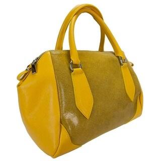 H&S Collection 5198-56 GL SASHA Yellow Structured Sacthel/ Shoulder Bag