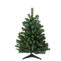 3' B/O Pre-Lit LED Canadian Pine Artificial Christmas Tree - Multi Lights - green