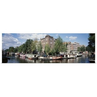 """""""Netherlands, Amsterdam, intersecting channels"""" Poster Print"""