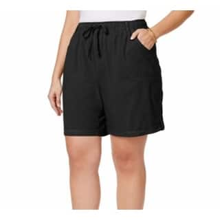 Karen Scott NEW Deep Black Women's Size 3X Plus Drawstring Shorts|https://ak1.ostkcdn.com/images/products/is/images/direct/aa975a29c35684d3b26825cf1d210110053c1cff/Karen-Scott-NEW-Deep-Black-Women%27s-Size-3X-Plus-Drawstring-Shorts.jpg?impolicy=medium