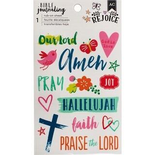 """American Crafts Bible Journaling Rub-On Sheet 4""""X6.5""""-Hallelujah"""