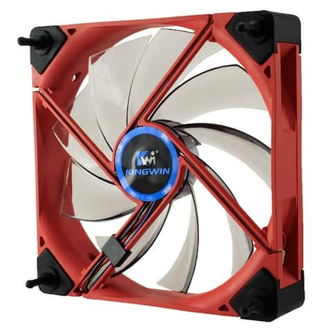 Kingwin DB-122 Duro Bearing 120mm Red Frame / White LED PC Computer Case Fan